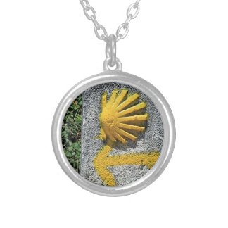 El Camino shell and arrow sign, Spain Silver Plated Necklace