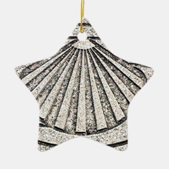 El Camino shell, pavement, Spain Christmas Ornament