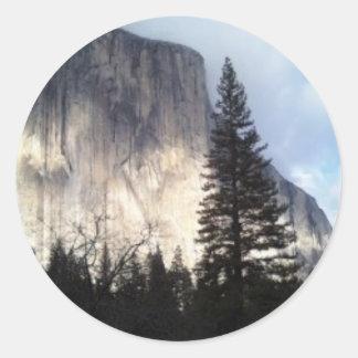 El Cap Round Stickers