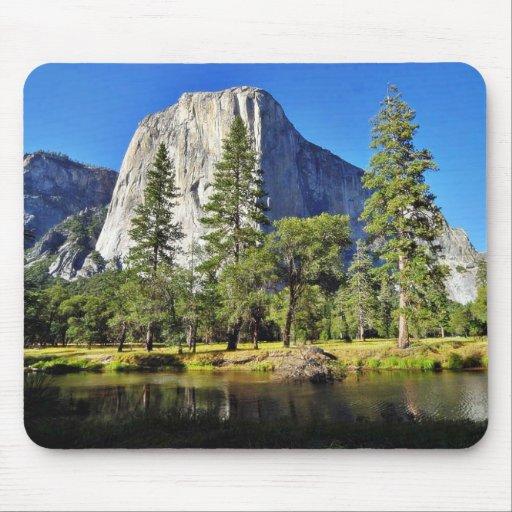 El Capitan And Merced River In Yosemite Park Mousepad