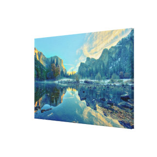 El Capitan and Three Brothers Reflection Canvas Print