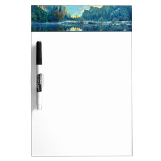 El Capitan and Three Brothers Reflection Dry Erase Board