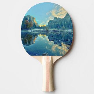El Capitan and Three Brothers Reflection Ping Pong Paddle