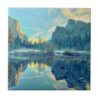El Capitan and Three Brothers Reflection Tile