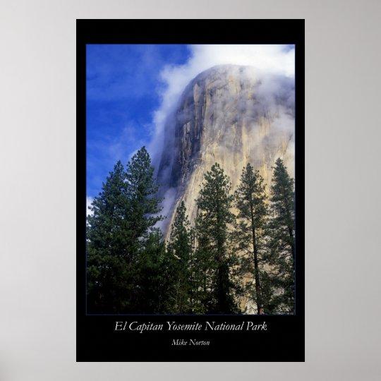 Yosemite Retro Poster El Capitan: El Capitan Yosemite National Park Poster