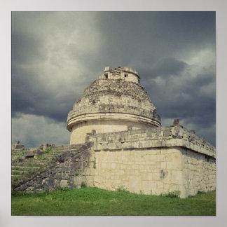 El Caracol  Mayan observatory Poster