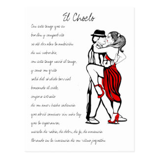 El Choclo Tango Lyrics Post Cards