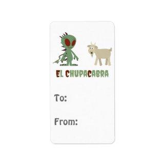 El Chupacabra Address Label