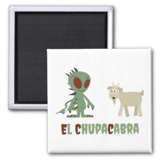 El Chupacabra Square Magnet
