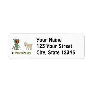 El Chupacabra Return Address Label