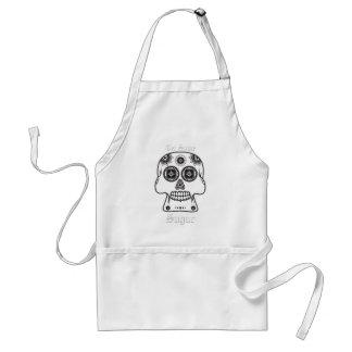 El Día de los Muertos sugar skull day of the dead Standard Apron