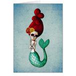 El Dia de Muertos Mermaid Greeting Card