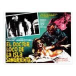 El Doctor Loco De La Isla Sangrieta Post Cards