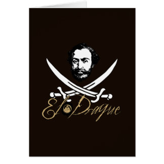 El Draque Pirate Insignia Greeting Cards