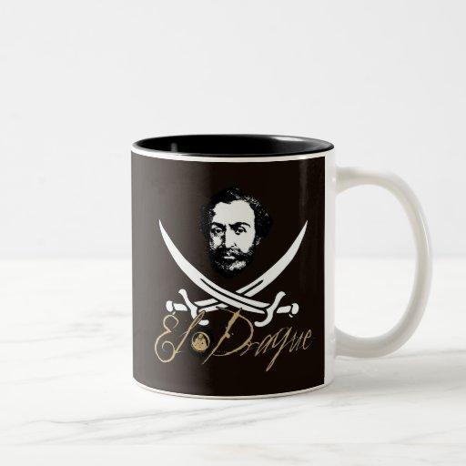 El Draque Pirate Insignia Mugs