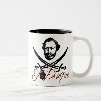 El Draque Pirate Insignia Two-Tone Coffee Mug