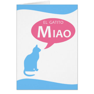 EL Gatito Miao Card