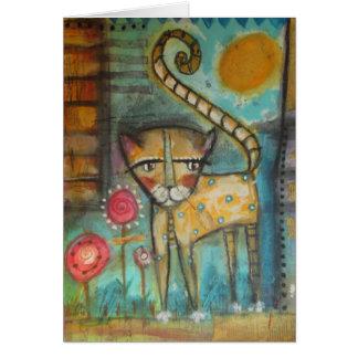 el gato 5 x 7 greeting card