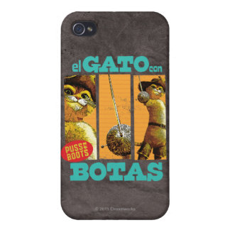 El Gato Con Botas Cover For iPhone 4