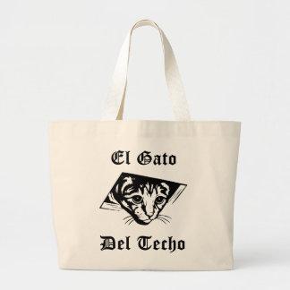 El Gato Del Techo Tote Bags