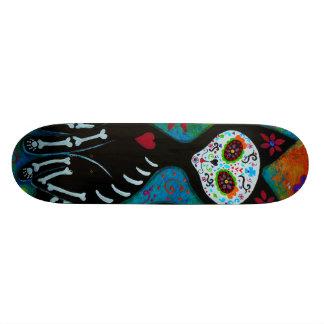 El Gato Dia de los Muertos Calavera 18.1 Cm Old School Skateboard Deck