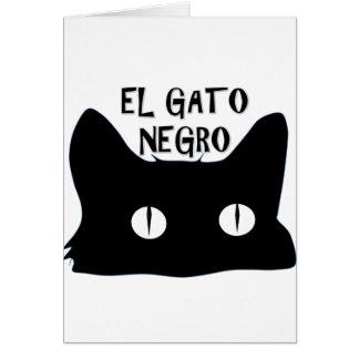 El Gato Negro  - The Black Cat Greeting Card