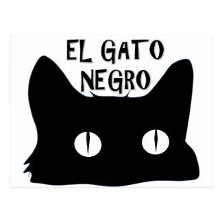 El Gato Negro  - The Black Cat Postcard