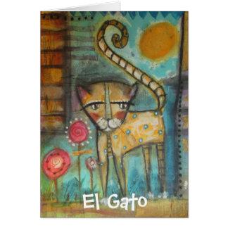 El Gato Note Card