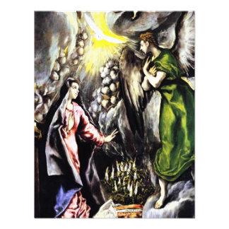 El Greco Annunciation Virgin Mary Invitations