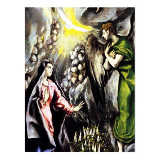 El Greco Annunciation Virgin Mary Postcard