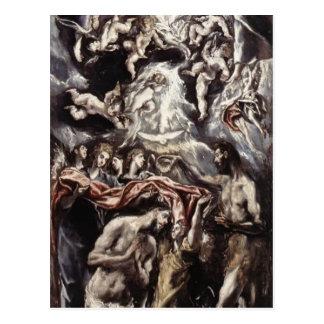 El Greco- Baptism of Christ Postcard