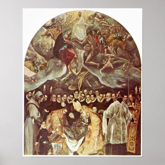 El Greco - Burial of Count Orgaz Poster