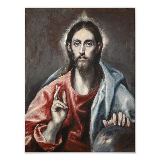 El Greco - Christ Blessing Art Photo