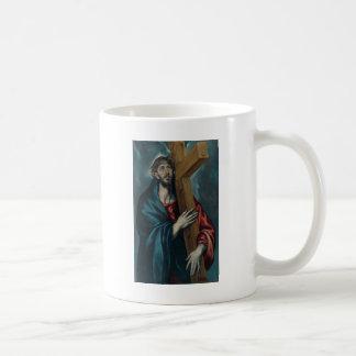 El Greco - Christ Carrying the Cross Basic White Mug