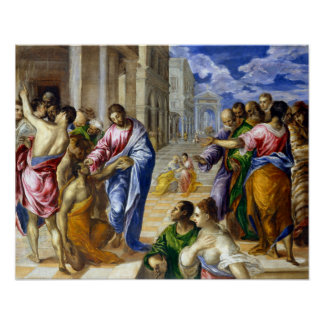 El Greco Christ Healing the Blind Poster