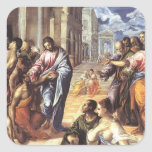 El Greco- Christ healing the blind Sticker