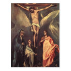 El Greco-Christ on the cross with Maries,St. John Postcard