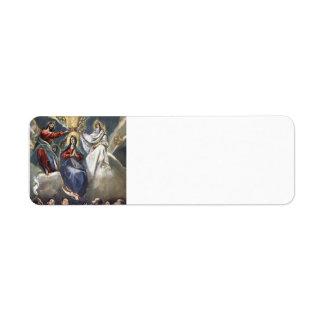 El Greco- Coronation of the Virgin Return Address Label