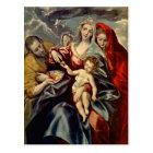 El Greco- Holy Family Postcard