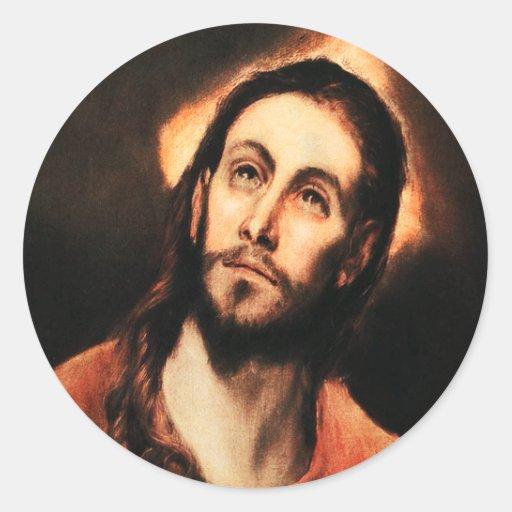 El Greco Jesus Christ Stickers