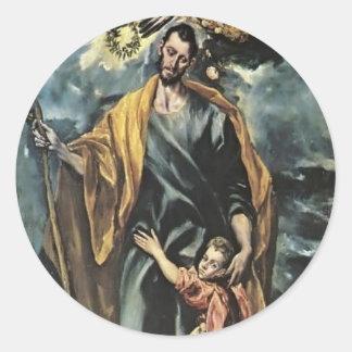 El Greco- St. Joseph and the Christ Child Stickers