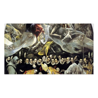 El Greco- The Burial of the Count of Orgaz Business Card