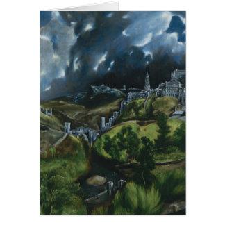 El Greco View of Toledo Card