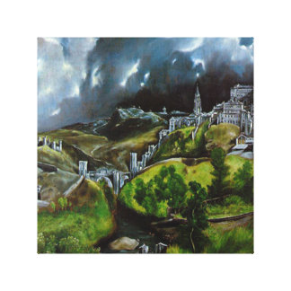 El-Greco View-of Toledo Oil Painting on-Canvas Canvas Print