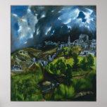 El Greco View of Toledo Poster