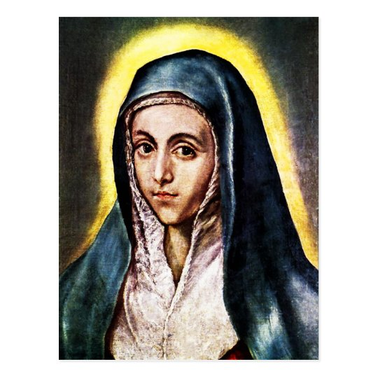El Greco Virgin Mary Postcard