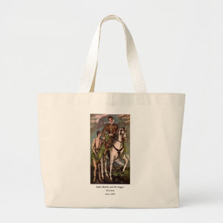 El Greco's Saint Martin and the Beggar, circa 1600 Large Tote Bag