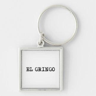 El Gringo Silver-Colored Square Key Ring
