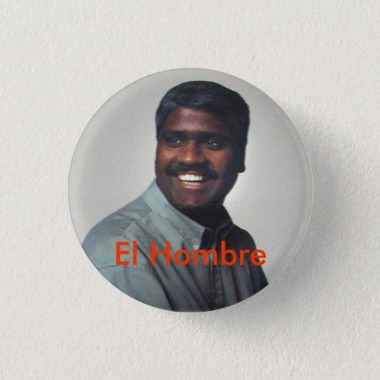 El Hombre 3 Cm Round Badge