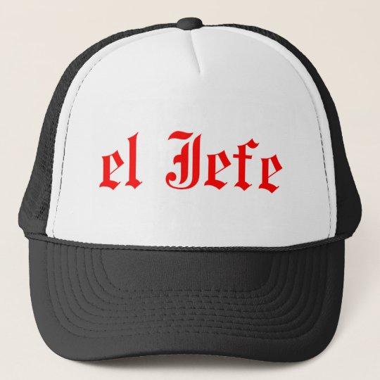 El jefe trucker hat